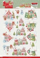 Yvonne Sweet Christmas 3D Knipvel CD11371 Houses
