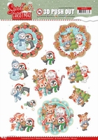 Yvonne Sweet Christmas 3D Push Out SB10397 Winter Animals