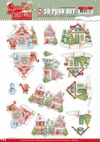 Yvonne Sweet Christmas 3D Push Out SB10394 Houses