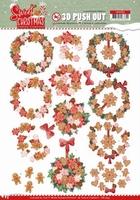 Yvonne Sweet Christmas 3D Push Out SB10395 Wreaths