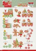 Yvonne Sweet Christmas 3D Knipvel CD11373 Cookies
