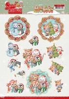 Yvonne Sweet Christmas 3D Knipvel CD11374 Winter Animals
