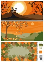 MD A4 Knipvel Eline's Backgrounds AK0073 Autumn