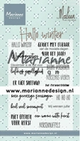 MD Clearstamp CS1036 Hallo winter by Marleen