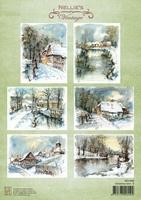 A4 Vel Nellie's Vintage NEVI085 Christmas time-5