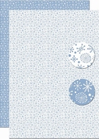A4 Vel Nellie's Background Neva097 Snowflakes