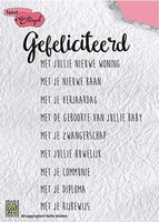 Nellies Choice Clearstempel DTCS007 Gefeliciteerd met julli