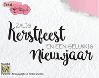 Nellies Choice Clearstempel DTCS022 Zalig Kerstfeest en een