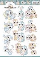 Yvonne 3D Knipvel CD11409 Sweet Bunnies