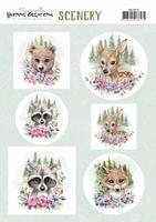 Scenery Yvonne Creations CDS10013 Aquarella Forest animal