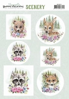 Scenery Yvonne Creations CDS10013 Aquarella Forest animal