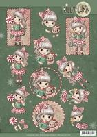 3D Knipvel Yvonne Creations CD11381 Lilly Luna Christmas Fun