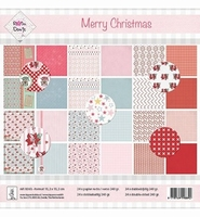 Rosa Dotje 21103 Achtergrond papier Père Noël + 21104