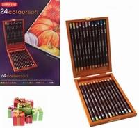 Derwent Coloursoft Luxe houten kist met 24 potloden