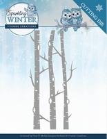 Yvonne Sparkling Winter Dies YCD10188 Birch Trees