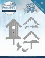 Yvonne Sparkling Winter Dies YCD10190 Winter Birdhouse