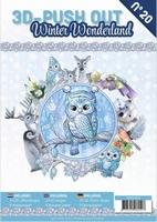 A4 Push Out Book 3D PO10020 Winter Wonderland