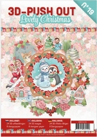 A4 Push Out Book 3D PO10019 Lovely Christmas