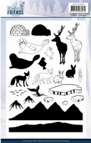 Amy Design Winter Friends ADCS10065 Clear Stamps