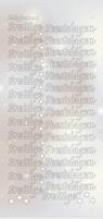 Hobbydots Sticker Pearl STDPPF2 Prettige Feestdagen Zilver