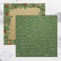Naughty or Nice Double Sided Patterned Papers CO726900 groen