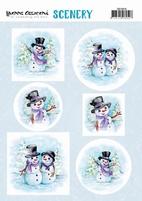 Scenery Yvonne Creations CDS10016 Happy Snowmen