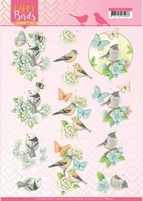 Jeanine's Art Happy Birds 3D Knipvel CD11321 Blauwe dans