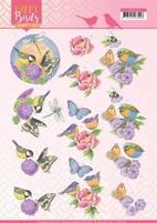 Jeanine's Art Happy Birds 3D Knipvel CD11323 Geurende bloem