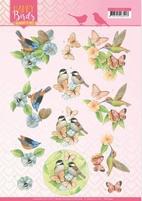 Jeanine's Art Happy Birds 3D Knipvel CD11324 Gevederde