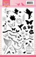 Jeanine's Art Happy Birds JACS10030 Clear Stamps