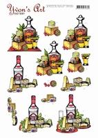 3D Knipvel Yvon's Art CD11443 Tequila and Vodka