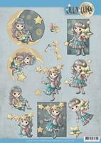 Yvonne Lilly Luna 2 3D Knipvel CD11430 Straal als een ster