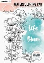 StudioLight Karin Joan Blooming WCPKJ01 Watercoloring Pad 1