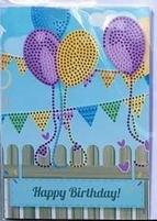 Diamond Painting XS2-HART wenskaart 1 ballonnen & vlagjes
