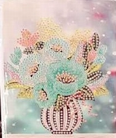Diamond Painting XS4-BLOEM wenskaart 12 vaas met bloemen