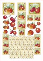 A4 Knipvel Marij Rahder 2433 Fruit/kersen/aardbeien