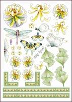 A4 Knipvel Marij Rahder 2575 Vlinder/bloem