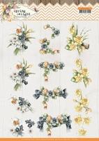 Marieke Spring Delight 3D Knipvel CD11434 Violets and