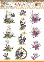 Marieke Spring Delight 3D Pushout SB10422 Purple Crocus