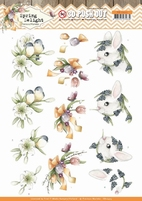 Marieke Spring Delight 3D Pushout SB10423 Young Animals