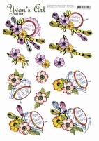 3D Knipvel Yvon's Art CD11455 Stitching/borduren