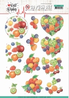 Jeanine's Art Well Wishes 3D Pushout SB10427 Fruits