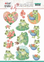 Jeanine's Art Well Wishes 3D Pushout SB10426 Frogs
