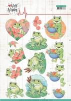 Jeanine's Art Well Wishes 3D Knipvel CD11459 Frogs
