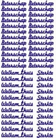 Tekststicker VBK 016 Beterschap/sterkte/welkom thuis