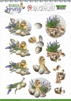 Amy Design Botanical Spring 3D Pushout SB10434 Happy Ducks