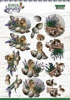 Amy Design Botanical Spring 3D Knipvel CD11469 Happy Ducks
