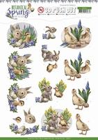 Amy Design Botanical Spring 3D Pushout SB10437 Best Friends