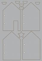 Pronty Grey Chip Board 492.001.006 Funky stencil house album