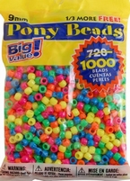 Darice Pony beads 06121-2-98 neon multi